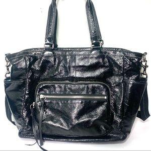 COACH Black Leather Diaper Bag